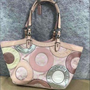 Pink Coach Tote Handbag L1093-F16180